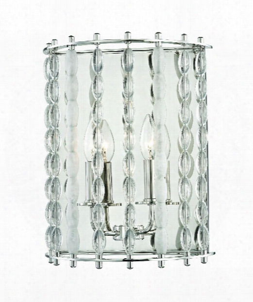 "Whitestone 11"" 2 Light Wall Sconce In Polished Nickel"