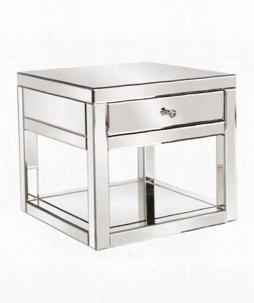"24"" End Table In Chrome"