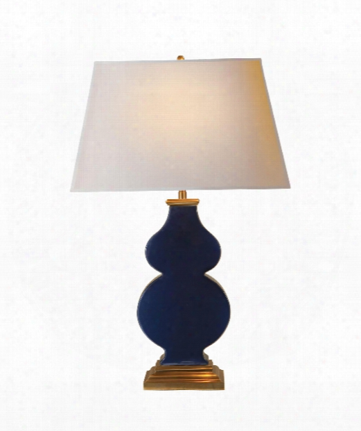 "Anita 18"" 1 Light Table Lamp In Midnight Blue Porcelain"