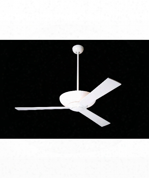 Aurora 1 Light Ceiling Fan In Gloss White