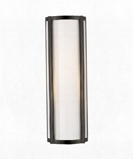 "Basil 6"" 1 Light Wall Sconce In Gun Metal"