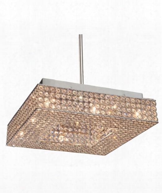 "Bella Vista 14"" 8 Light Large Pendant In Stainless Steel"