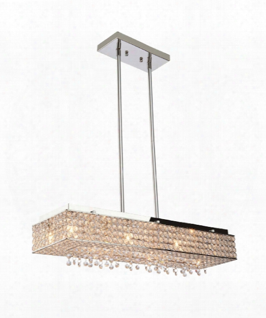 "Beloa Vista 40"" 12 Light Sland Light In Stainless Steel"