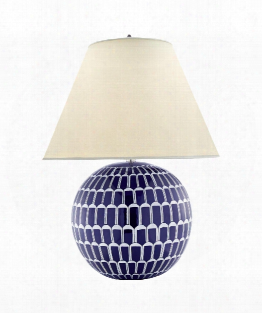 """Brewster 22"""" 2 Light Table Lamp In Blue And White Porcelain"""