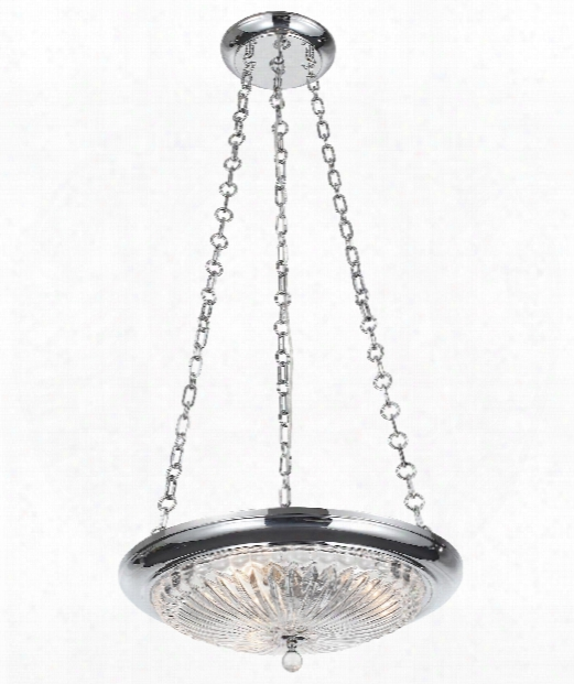 "Celina 20"" 3 Light Large Pendant In Polished Chrome"