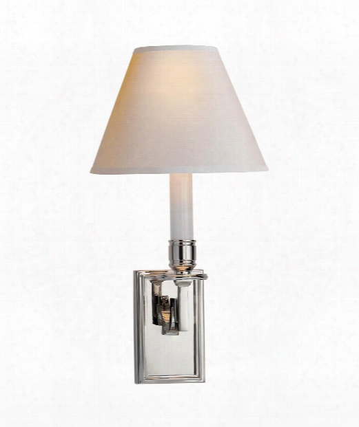 "Dean 7"" 1 Light Wall Sconce In Polished Nickel"