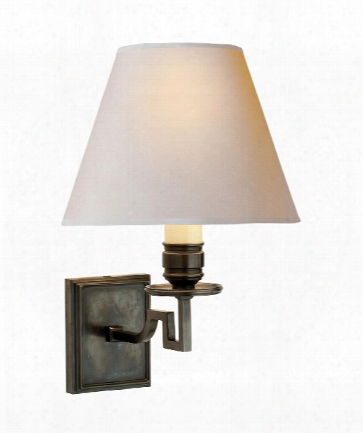 "Dean 8"" 1 Light Wall Sconce In Gun Metal"