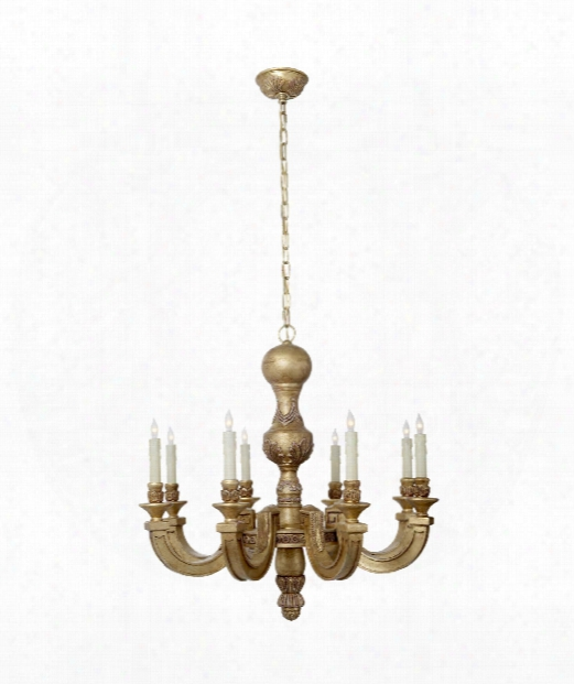 """Dexter 26"""" 8 Light Chandelier In Weathered White And Gold"""