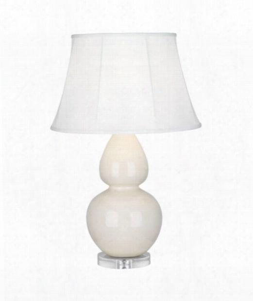 "Double Gourd 7"" 1 Light Table Lamp In Acrylic-bone"