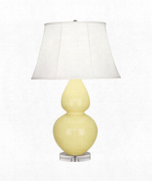 "Double Gourd 7"" 1 Light Table Lamp In Acrylic-butter"