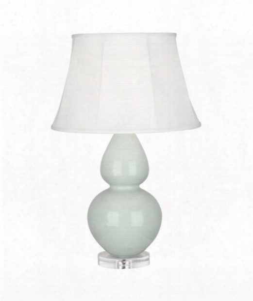 """Double Gourd 7"""" 1 Light Table Lamp In Acrylic-celadon"""