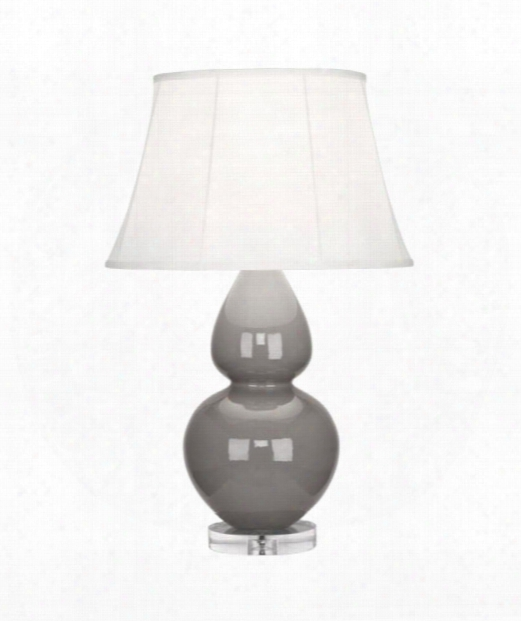 """Double Gourd 7"""" 1 Light Table Lamp In Acrylic-smokey Taupe"""