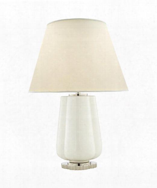 """Eloise 17"""" 2 Light Table Lamp In White Porcelain"""