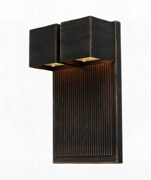 """Fontana 8"""" Led 2 Light Outdoor Outdoor Wall Light In Oil Rubbed Bronze"""