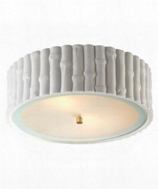 "Frank 15"" 3 Light Flush Mount In Plaster White"