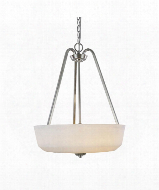 "Hudson 18"" 3 Light Large Pendant In Brushed Nickel"