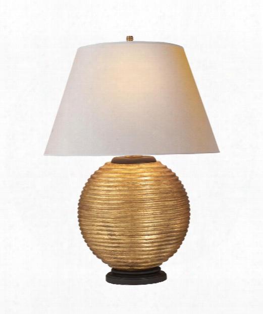 """Hugo 20"""" 1 Light Table Lamp In Gilded Wood"""