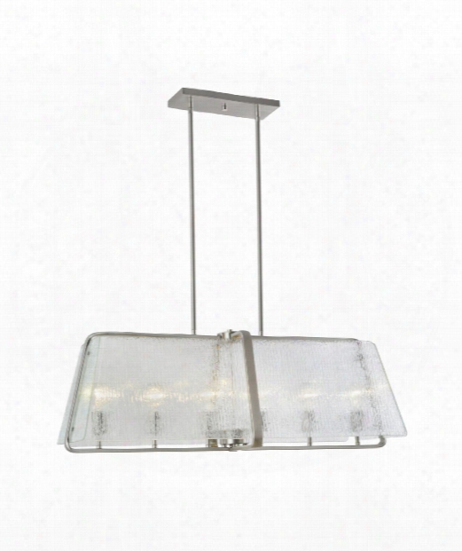 "La Traviata 36"" 6 Light Island Light In Brushed Nickel"