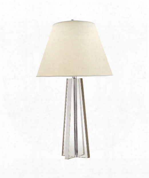 """Lila 17"""" 1 Light Table Lamp In Crystal With Silver"""