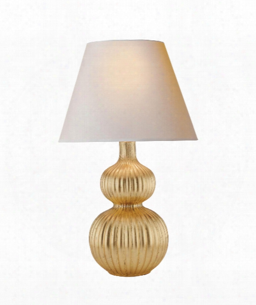 """Lucille 18"""" 2 Light Table Lamp In Gild"""