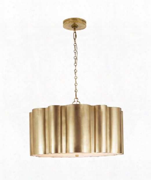 "Markos 26"" 4 Light Large Pendant In Natural Brass"