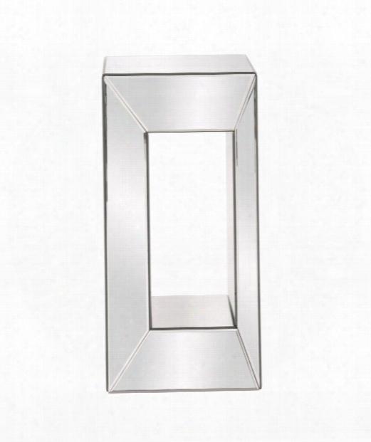 "Mirrored 12"" Pedestal In Mirrored"