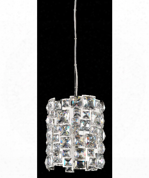 "Mosaix 7"" 1 Light Mini Pendant In Stainless Steel Polished"
