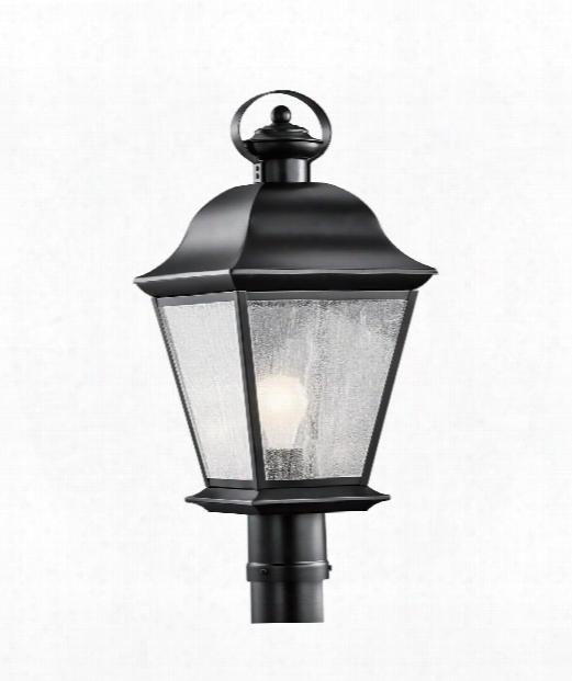 "Mount Vernon 10"" 1 Light Outdoor Outdoor Post Lamp In Black Painted"
