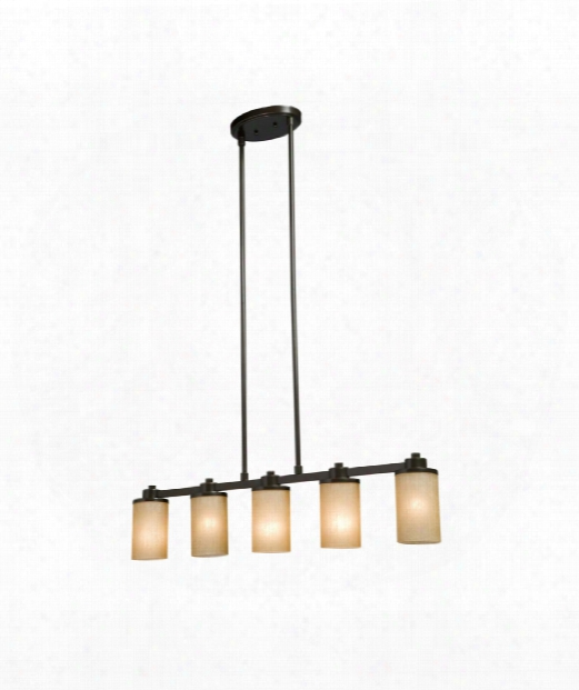 """Parkdale 38"""" 5 Light Island Light In Oiled Bronze"""