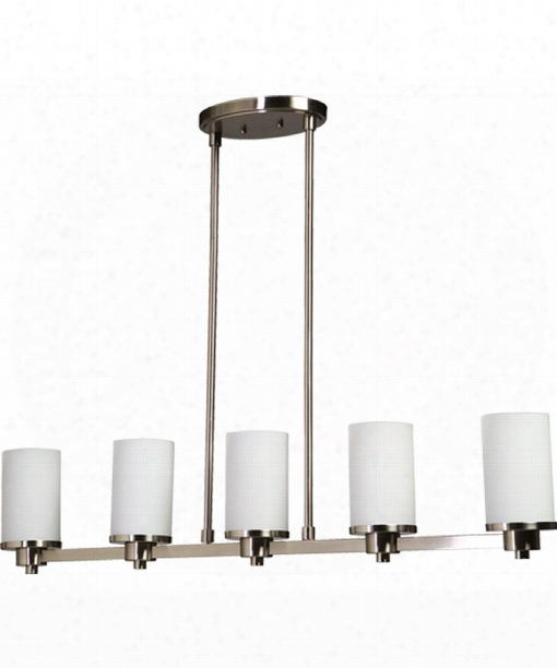 "Parkdale 38"" Led 5 Light Island Light In Polished Nickel"