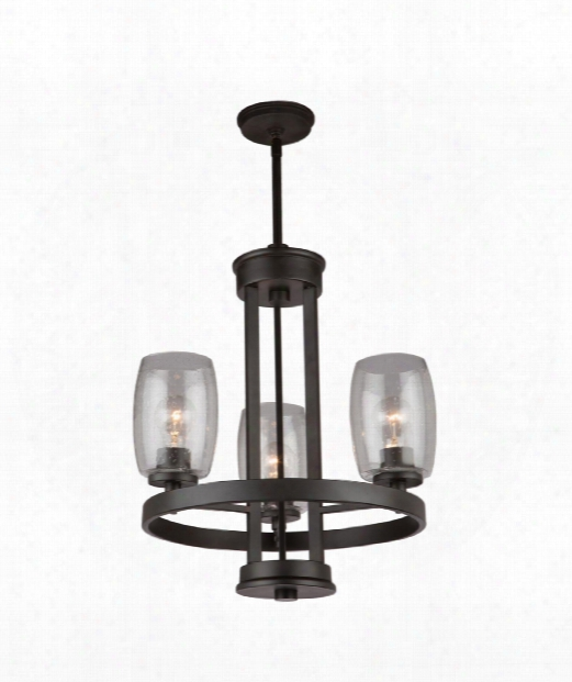 "San Antonio 19"" 3 Light Mini Chandelier In Java  Brown"