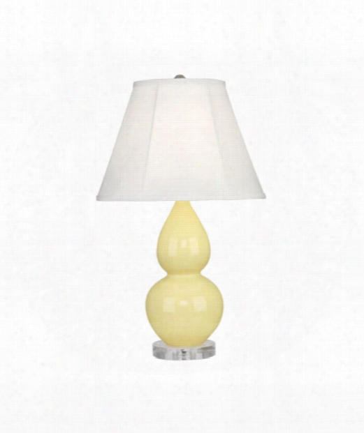 """Small Double Gourd 5"""" 1 Light Table Lamp In Lucite-butter"""