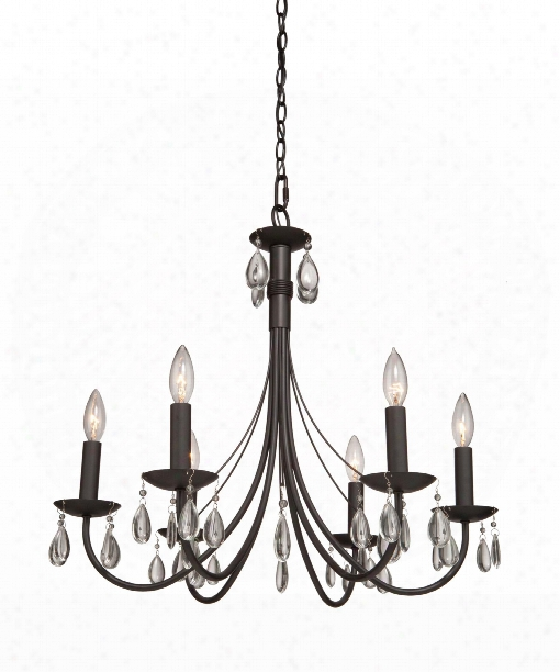"Terramo 27"" 6 Light Chandelier In Bronze"