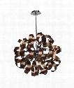 "Bel Air 24"" 12 Light Large Pendant in Brushed Copper - Chrome"