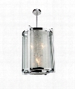 "Crackled Ice 13"" 4 Light Mini Pendant in Chrome"
