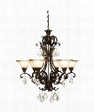 "Florence 31"" 6 Light Chandelier in Bronze"