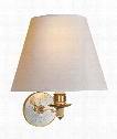 """Ida 12"""" 1 Light Wall Sconce in Natural Brass"""