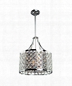 "Lattice 14"" 3 Light Large Pendant in Chrome"