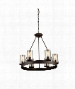 "Menlo Park 26"" 6 Light Chandelier in Dark Chocolate"