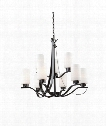"Russell Hill 28"" 9 Light Chandelier in Oil Rubbed Bronze"
