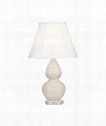 "Small Double Gourd 5"" 1 Light Table Lamp in Lucite-Bone"