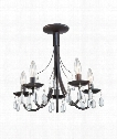 "Terramo 17"" 5 Light Mini Chandelier in Bronze"
