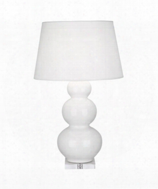 "Triple Gourd 7"" 1 Light Table Lamp In Acrylic-lily"