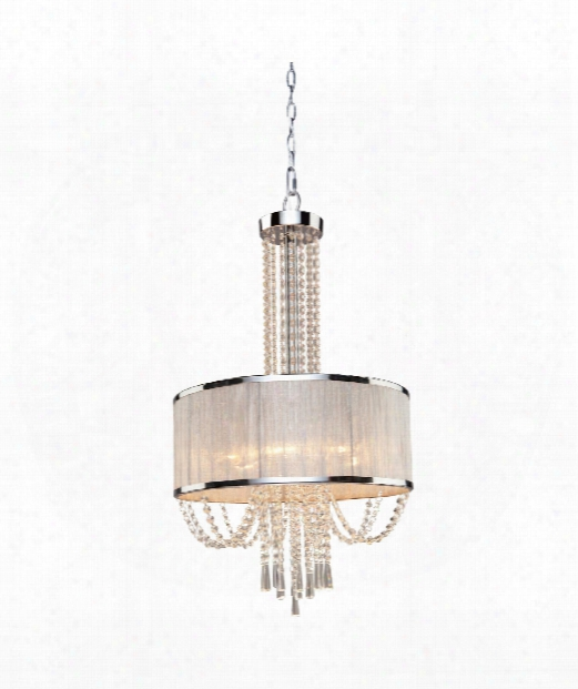 "Valenzia 20"" 6 Light Large Pendant In Chrome"