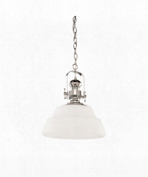 "Victoriaville 16"" 1 Light Mini Pendant In Chrome"