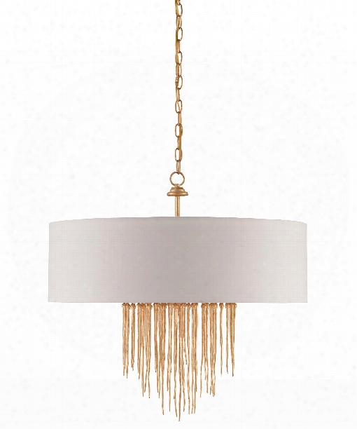"Zareen 28"" 4 Light Chandelier In Contemporary Gold"