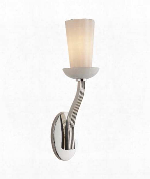 """All Aglow 4"""" 1 Light Wall Sconce In Polished Nickel"""