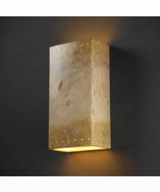 "Ambiance 11"" 2 Light Outdoor Outdoor Wall Light In Greco Travertine"