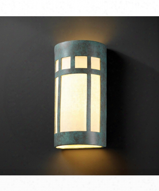 "Ambiance 11"" 2 Light Outdoor Outdoor Wall Light In Verde Patina"
