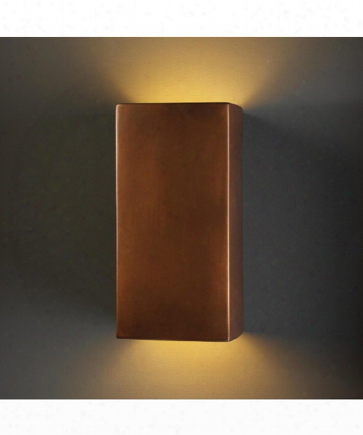 "Ambiance 7"" 1 Light Outdoor Outdoor Wall Light In Antique Copper"